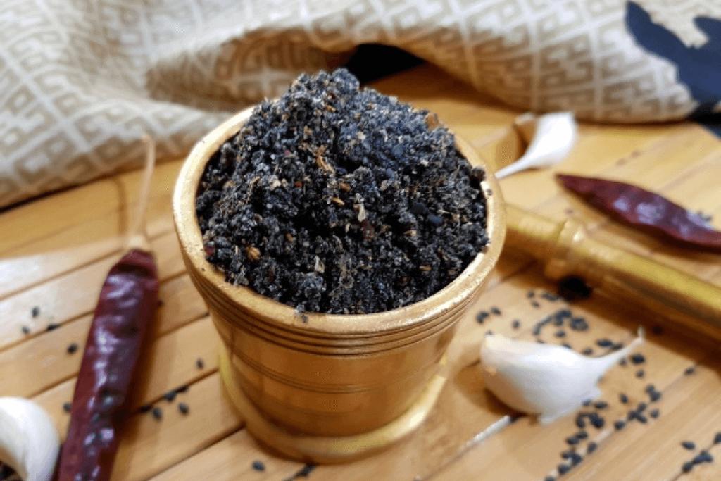 Dry Black Sesame Chutney
