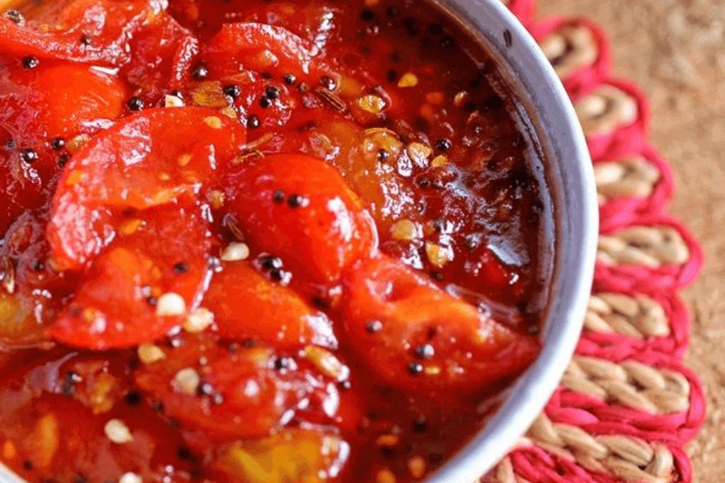 Tomato and Sweet potato Chutney