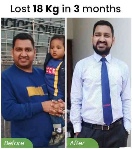 weight loss client results by dietitian nikita